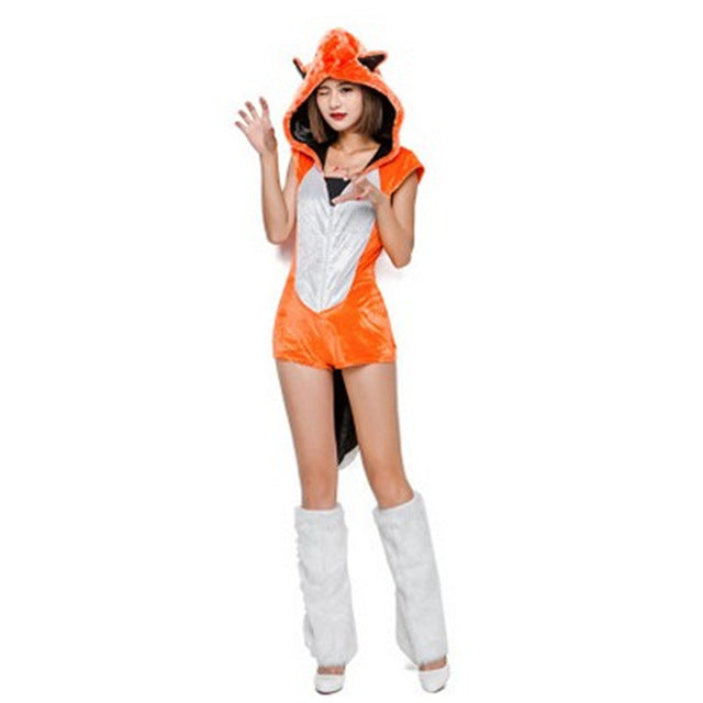 Female Fox Animal Cosplays Woman Halloween Costumes Kigurumi adult pajamas Carnival Christmas Masquerade Role play party dress
