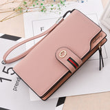 Free shipping HENGSHENG fashion red women wallet with leather long women wallet and phone holder female long wallets