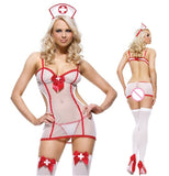 Women Halloween Role Play Underwear Chemises Erotic Sexy Uniform Nurse Cosplay Sexy Costumes