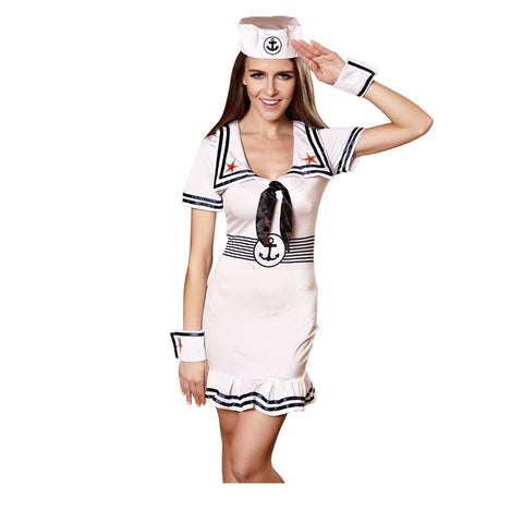 Sexy Sea Sailor Costume Woman Airline Stewardess Cosplay Costume Female Erotic Performance Dress Girl Sexy Tight Dress Uniforms