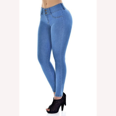 Spring Jeans For Women Slim Skinny Bodycon Denim Jean Pantalon Femme Pencil Pants Plus Size S-XXL