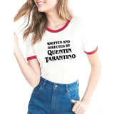 Quentin Tarantino  Free shipping T-Shirt Clothes Tee Dusk Til Dawn Graphic Written And Directed Outfits t-shirt Tops