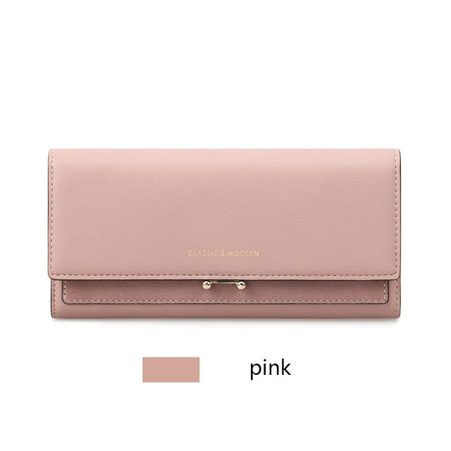 Fashion Women Long Clutch Wallet Large Capacity Wallets Female Purse Lady Purses Phone Pocket Card Holder Carteras