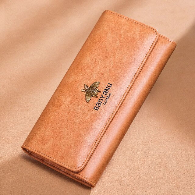 Ladies Genuine Leather Wallet Women Luxury Hasp Purse Long Vintage Cow Leather Wallet Phone Wallet Female Card Holder Wallet