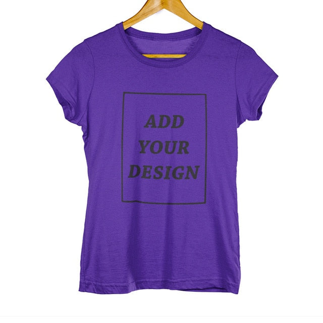 EU Size Custom T-Shirt Female Add Your Own Design Print The Text Picture Cotton T-shirt