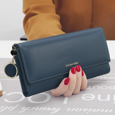 Fashion Wrist band Women Wallets Long Style Multi-functional wallet Purse Fresh PU leather Female Clutch Card Holder