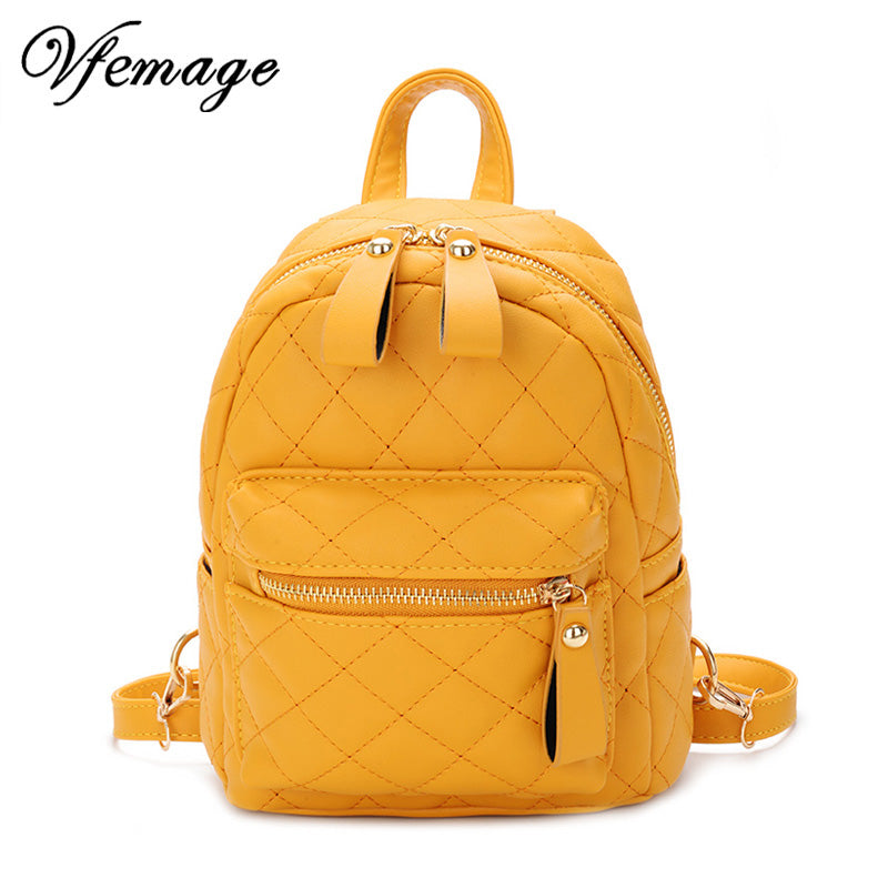 Teenager Girls Small Backpack Female Leather Backpack Purse Women Mini School Bags Cute Funny Backpack for Girl Sac A Dos