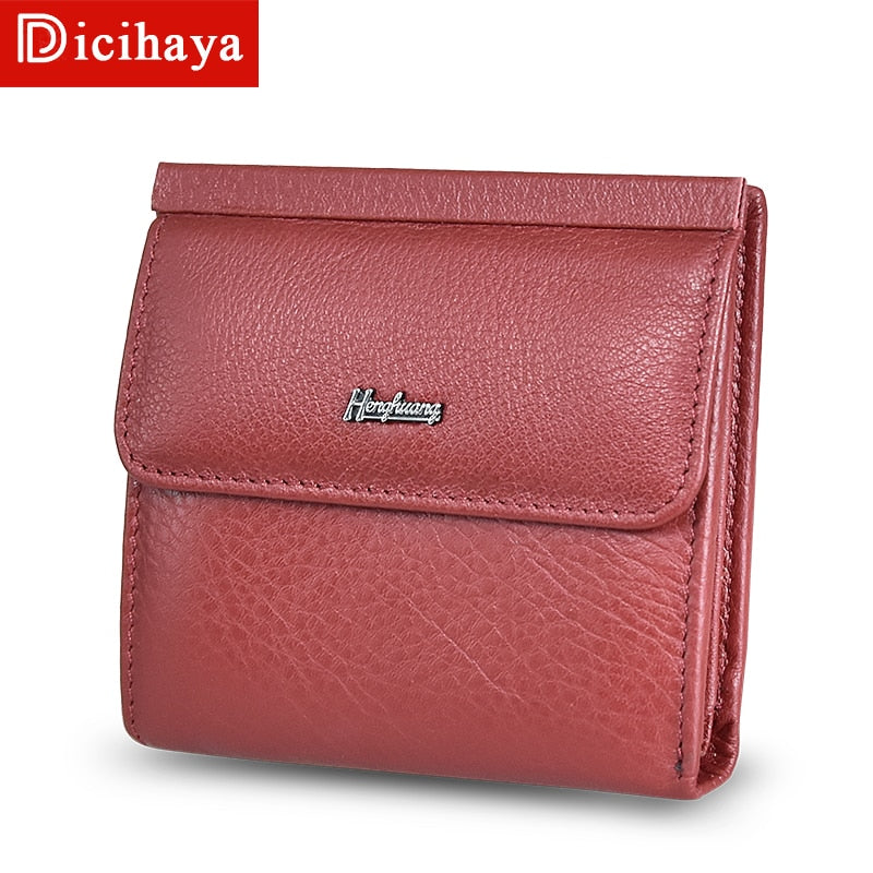 Women Wallets Small Fashion Brand Real Leather Purse Ladies Card Bag For Women Clutch Women Female Purse Money Clip Wallet