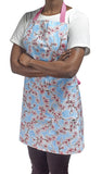 Freckled Sage Oilcloth Apron Cherry Blossom Light Blue