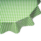 freckled sage houndstooth lime round tablecloth
