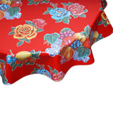 FreckledSage.com Lemons and Roses Red Round tablecloth