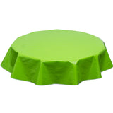 Solid Lime round oilcloth tablecloth