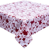Chelsea Flowers on Burgundy Tablecloth