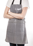 Freckled Sage Oilcloth Apron Gingham Black