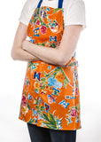 Freckled Sage Oilcloth Apron Edgar's Butterfly Orange