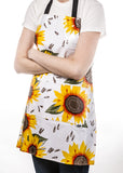 Freckled Sage Oilcloth Apron Sunflower