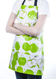 Freckled Sage Oilcloth Apron Mod Apple Green