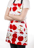 Freckled Sage Oilcloth Apron Mod Apple Red