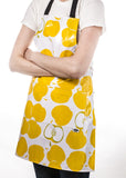Freckled Sage Oilcloth Apron Mod Apple Yellow