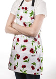 Freckled Sage Oilcloth Apron Cherry White