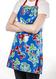 Freckled Sage Oilcloth Apron Strawberry Blue