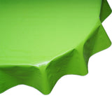 Round oilcloth tablecloth solid lime