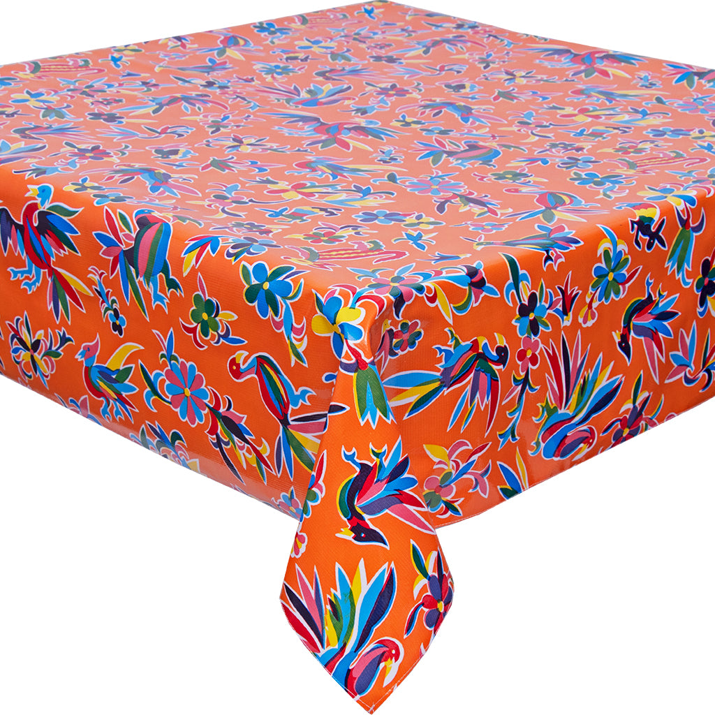 freckled sage animal wonderland orange tablecloth