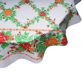 English Rose Orange Round oilcloth tablecloth