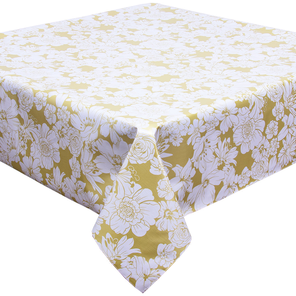 Chelsea Flowers on Gold Tablecloth
