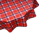 FreckledSage.com Round Red Plaid Tablecloth