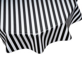 Stripe Black round oilcloth tablecloth