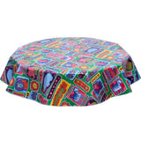 FreckledSage.com Round Tablecloth Menagerie Green