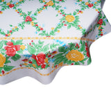 freckled sage round tablecloth yellow english roses