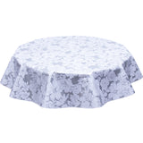 Chelsea Flowers on Silver Round Oilcloth tablecloth