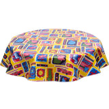 freckledsage.com round tablecloth Menagerie Yellow