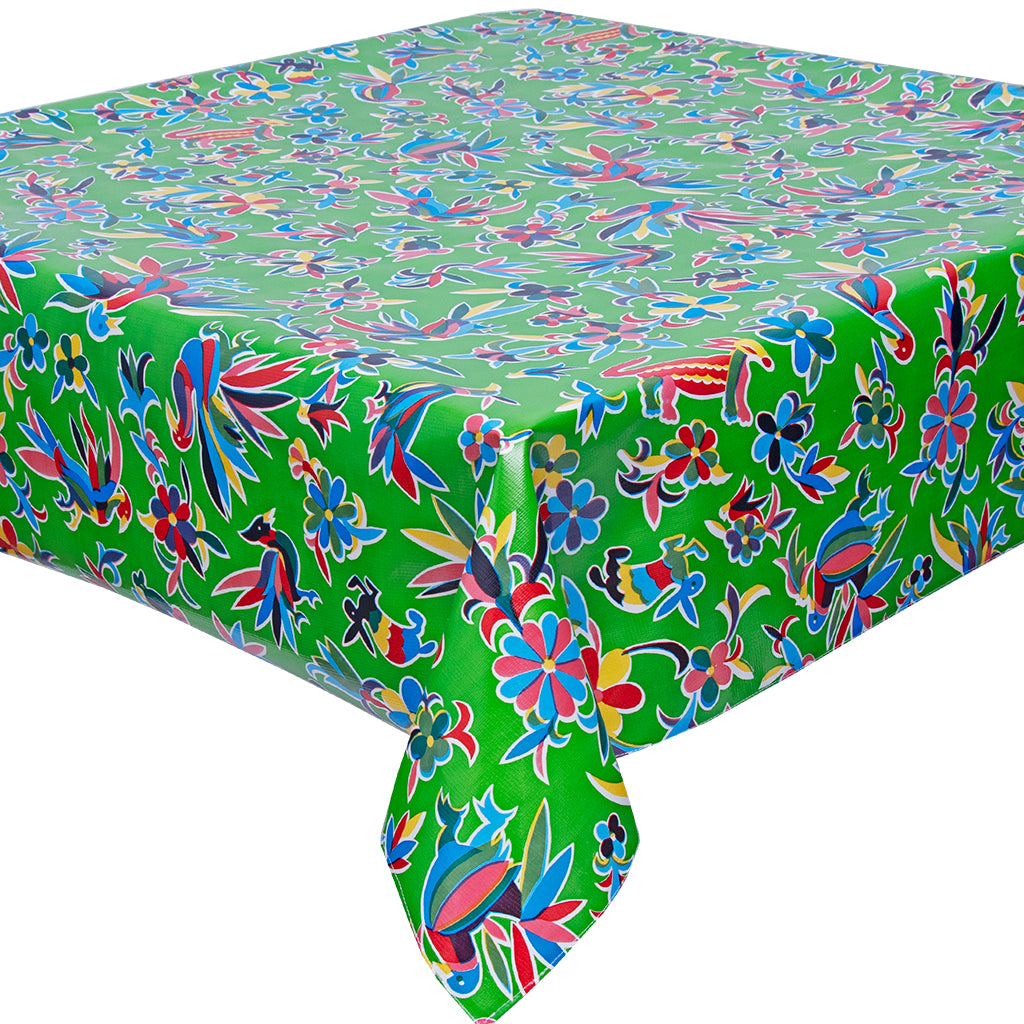 freckled sage animal wonderland lime tablecloth