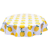 FreckledSage.com Round Tablecloth Apples and dots Yellow