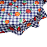 Round Tablecloth Fruit and Gingham navy