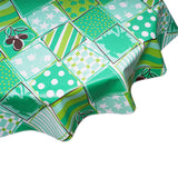FreckledSage.com Patchwork Green Round tablecloth