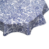 Round tablecloth Toile Blue