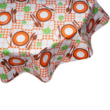 freckled sage orange and brown picnic round tablecloth