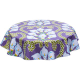 Calla Lily purple round oilcloth tablecloth