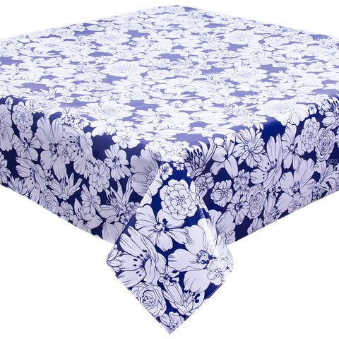 Chelsea Flowers on Navy Tablecloth