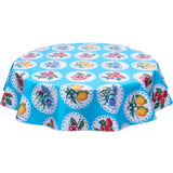 freckled sage Doily 2 light blue round tablecloth