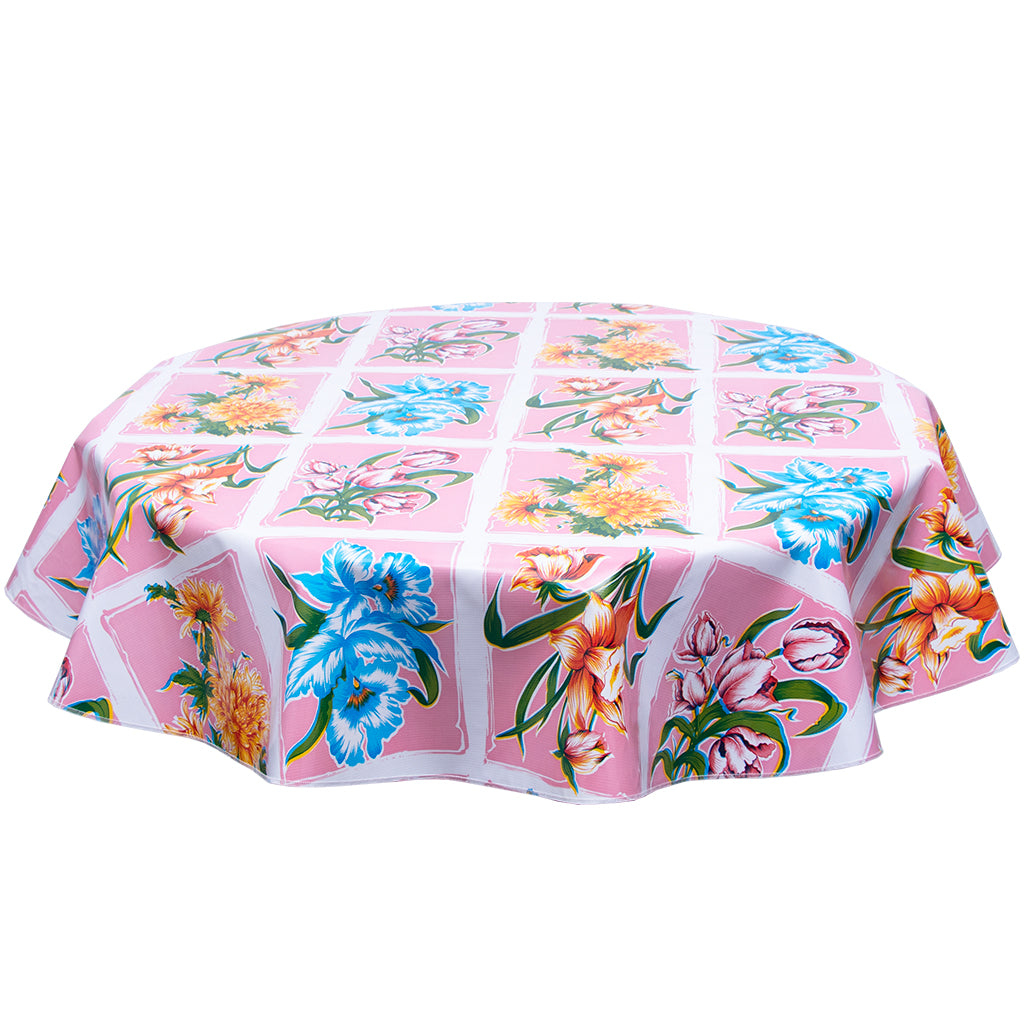 FreckledSage.com Round tablecloth Sentimental Pink
