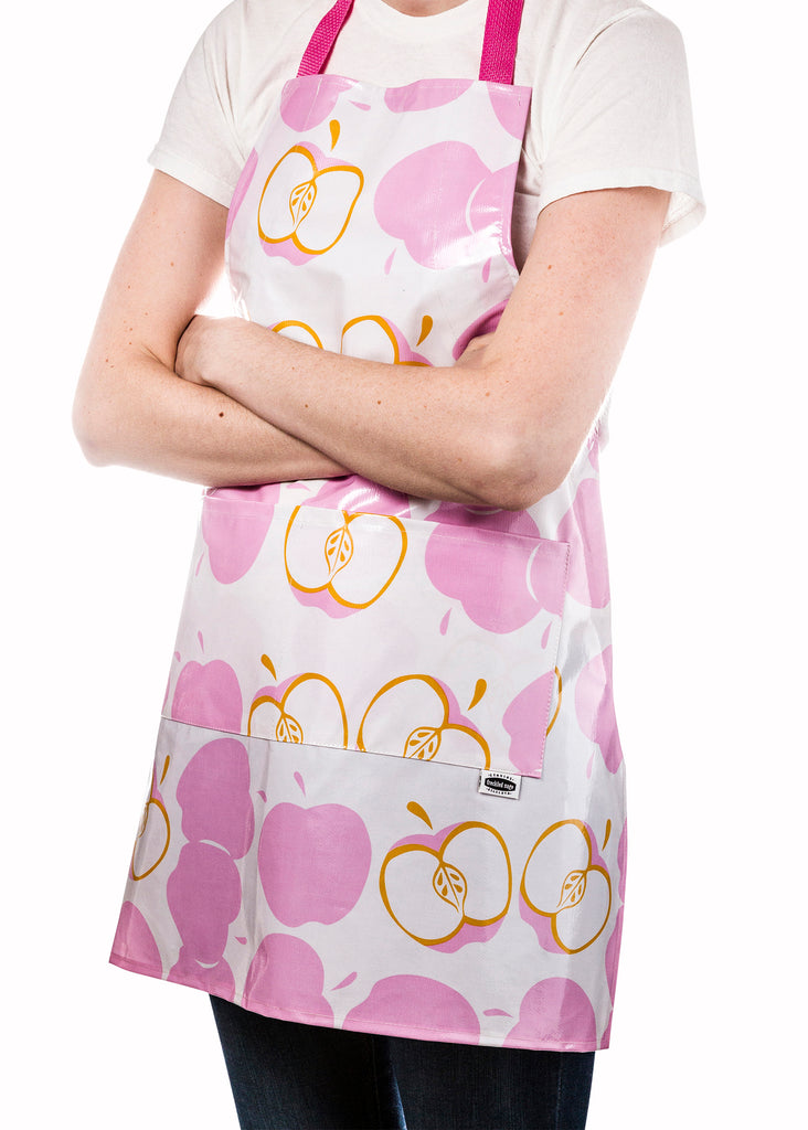 Freckled Sage Aprons Mod Apple Pink
