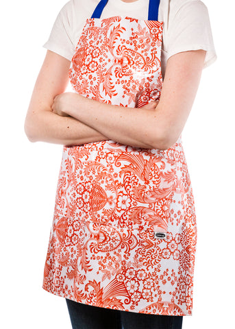 Freckled Sage Aprons Orange Toile