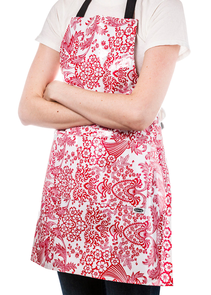 Freckled Sage Aprons Red Toile