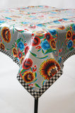 "Rectangle Oilcloth Tablecloth - 48"" x 84"""