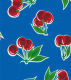 Freckled Sage Oilcloth Swatch Cherry Blue